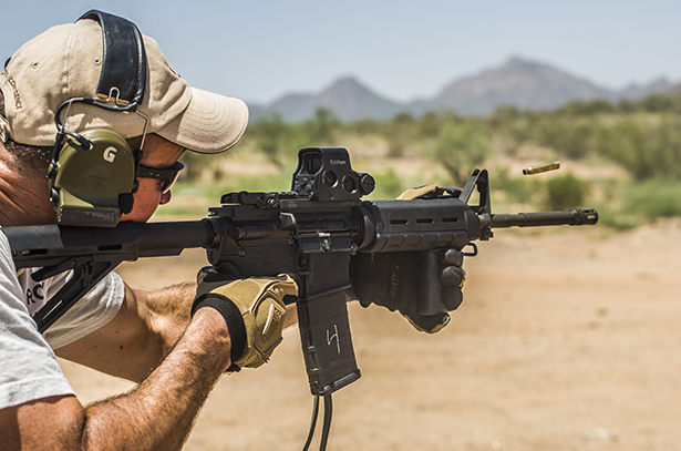 A man firing a Bushmaster carbine using Federal ammunition successfully shot all 10,000 steel rounds without any malfunctions.